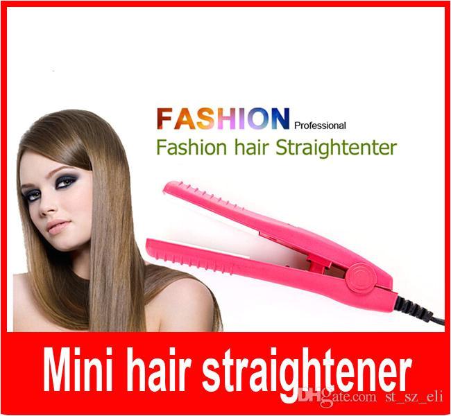 Mini Portable Professional Car Plug Hair Styling Straightener Flat Iron Ceramic Plates for Traveling Camping Hair Straightener Flat Iron Mini Hair Flat Iron