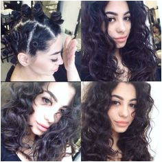 Make bantu knots to easy beachy waves
