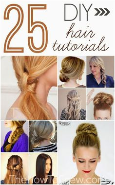 The How To Crew 25 DIY Hairstyle Tutorials for Medium to Long Length Hair