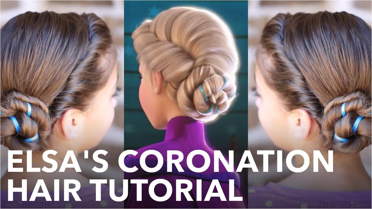 Elsa s Frozen Coronation Hairstyle Tutorial