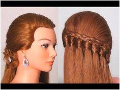 Прическа на каждый день с пРетением Easy every day hairstyle tutorial