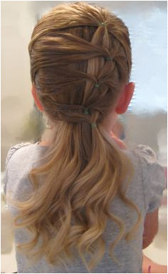 A Fancy Row of Ponytails Easy HairstylesKids