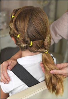 Mum unveils five no fuss hairstyles YOU can do on your girls before they go to school Bubble PonytailPonytail GirlSimple