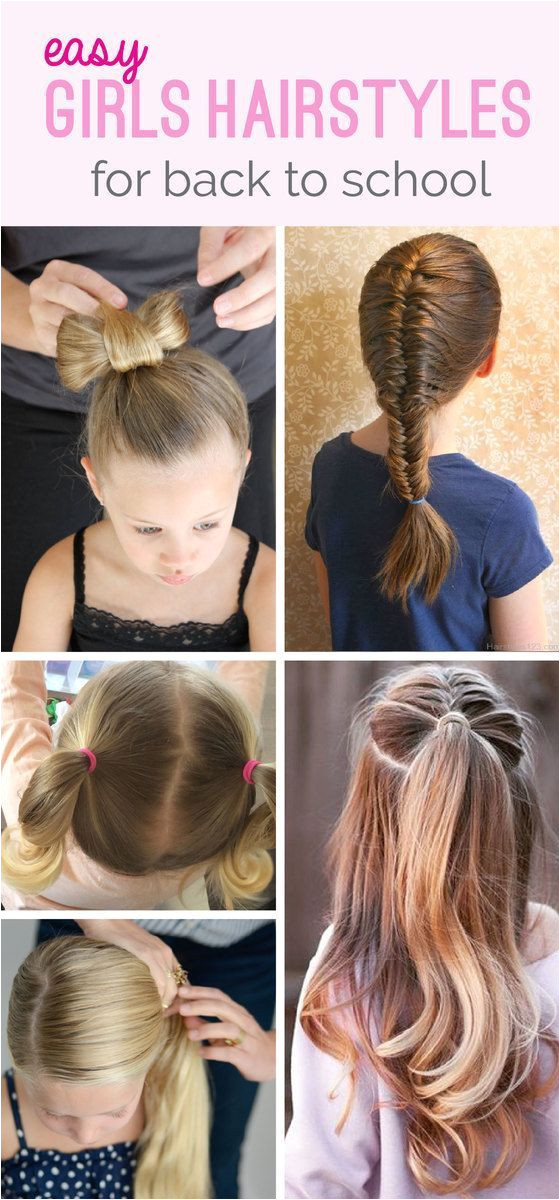 The cutest the smartest but most importantly the most EASY Back To School Hairstyles for girls