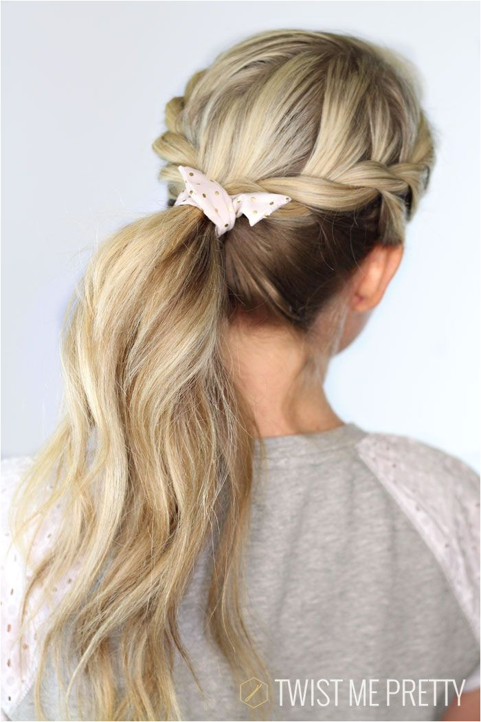Just twist and go cute ponytail