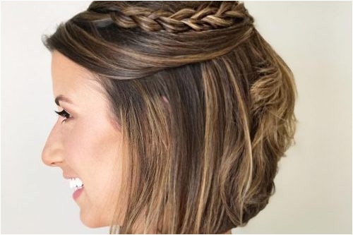 Cute and easy updos for women with short hair