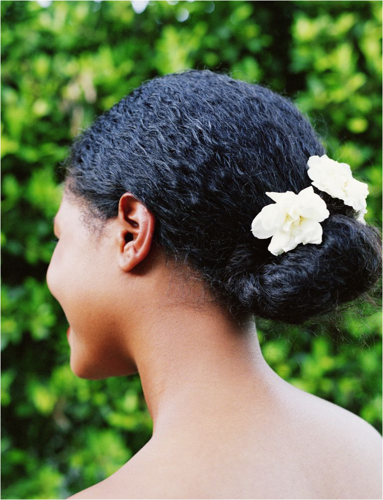 A bun is a chic protective style