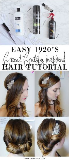 Easy 1920 s Great Gatsby hair tutorial AD