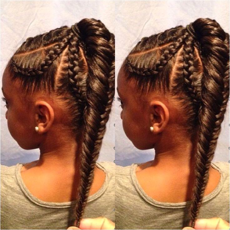 High braided pony 5 Braid Fishtail Braids Fishtail Hairstyles Kids Braided Hairstyles