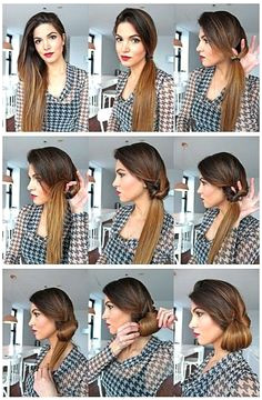 Quick N Easy Side Hairstyles Pretty Hairstyles Hairstyle Ideas Latest Hairstyles 1950s