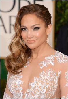 Jennifer Lopez Side Parted Long Hairstyle 2013 2013 Red Carpet Hairstyles Hair Dos Curly