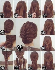 Nette einfache Upddos für langes Haar wie man es sich 2018 tut Easy Hairstyle