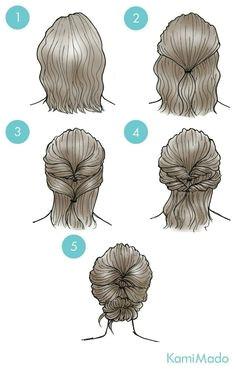 Hochsteckfrisur bildhaft bildhaft hochsteckfrisur Medium Hair Updo Easy Short
