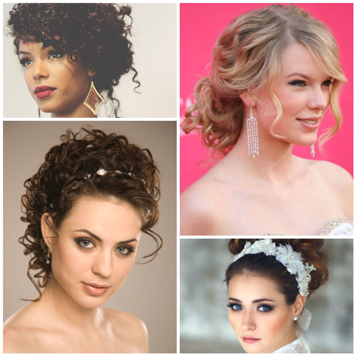 Prom Updo Hairstyles for Curly Hair