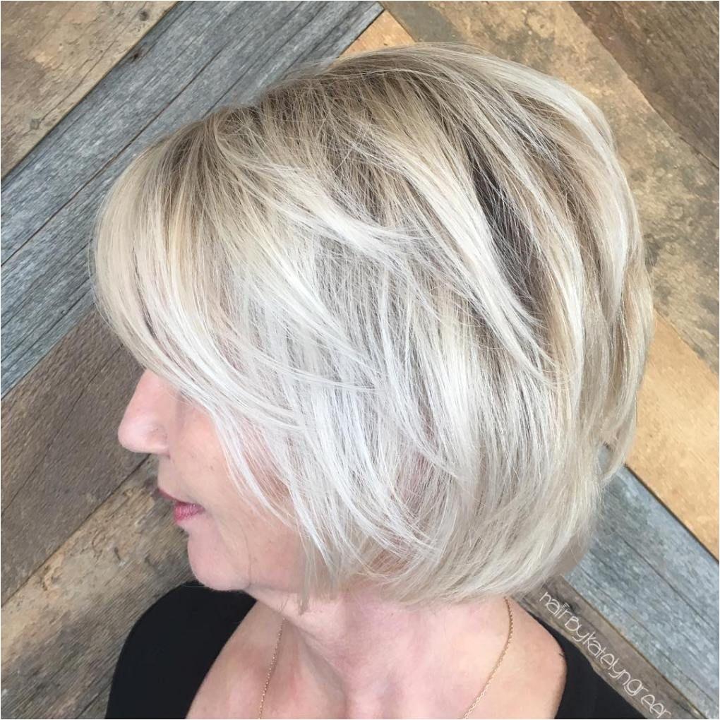 Chin Length Layered Blonde Balayage Hair