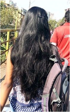 Beautiful silky hair Indian Hairstyles