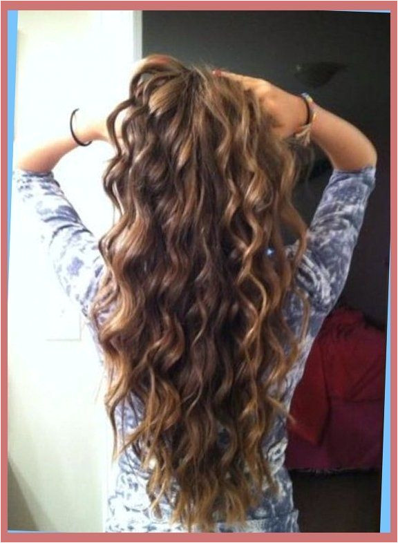 Everyday Hairstyles for Permed Hair Loose Spiral Perm for Medium Length Hair before and after