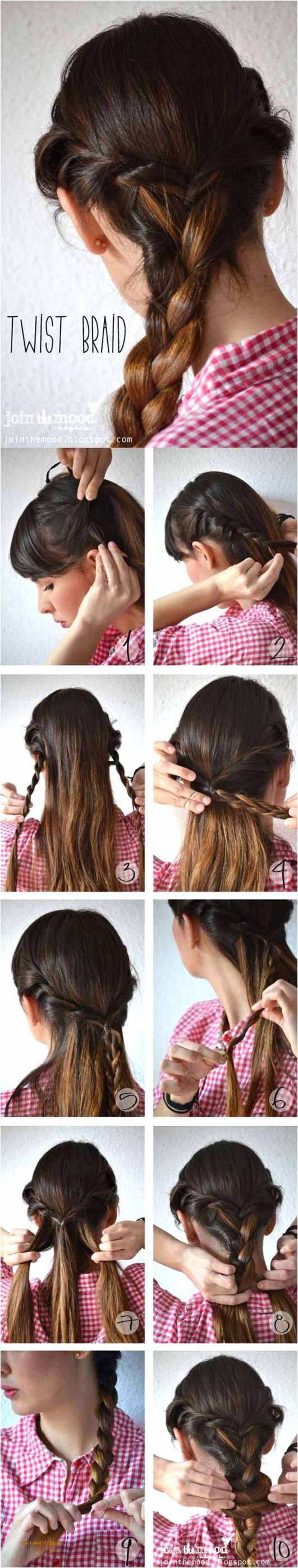 Easy Diy Hairstyles Step by Step New Easy Hairstyle Tutorials for Medium Length