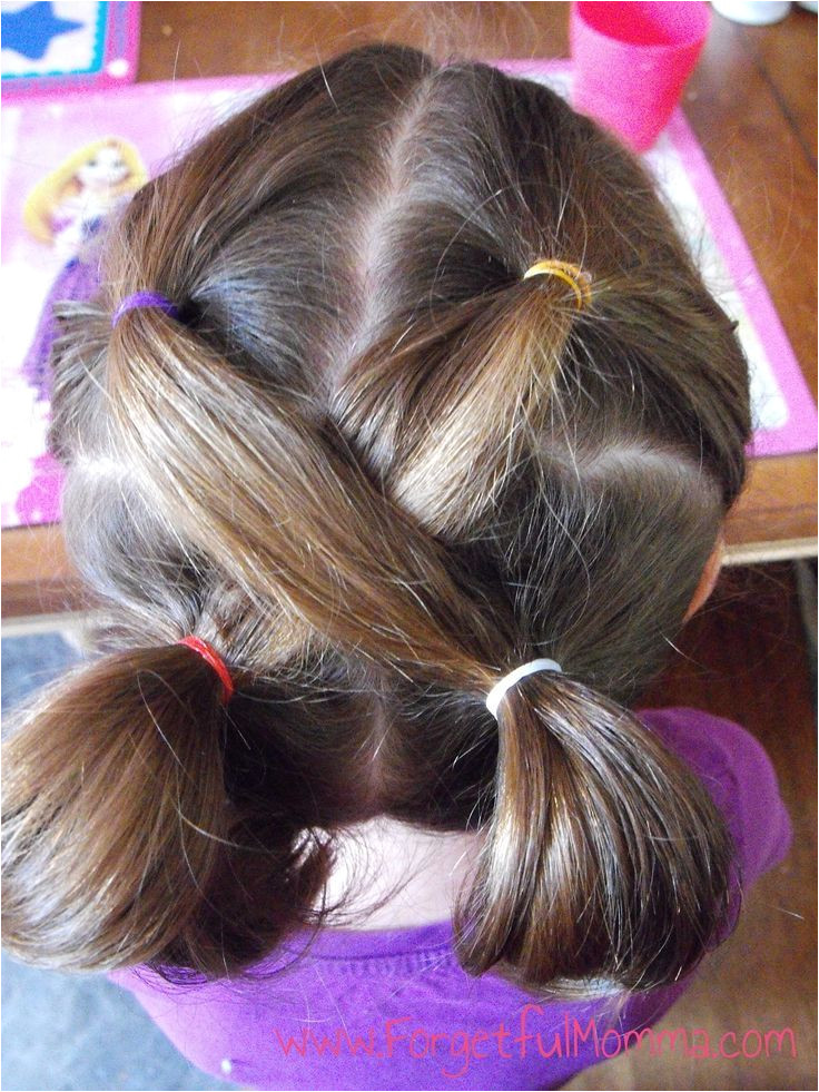 little girls easy hairstyles for school Google Search More