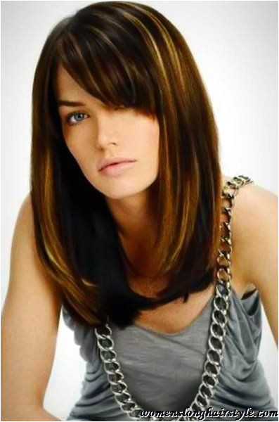 Everyday Hairstyles with Side Bangs Popular Long Bob Hairstyle with Side Bangs