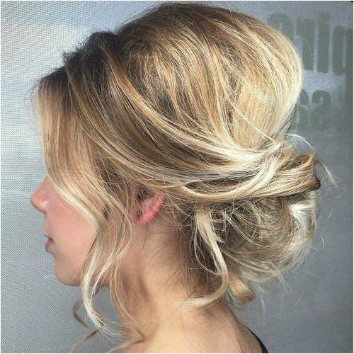 Easy and Cute Hair Updo Ideas Updo with Bangs Blonde Updo Updo for Wavy Hair Curly Lose Updo French Roll Updo Side Bun Updo Low Tuck Updo Bridal Updo