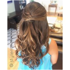 Half up hairstyles are ideal for flower girls and other little one s events Their hair