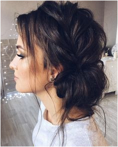 Beautiful updo with side braid wedding hairstyle for romantic bridess Get inspired by this braid
