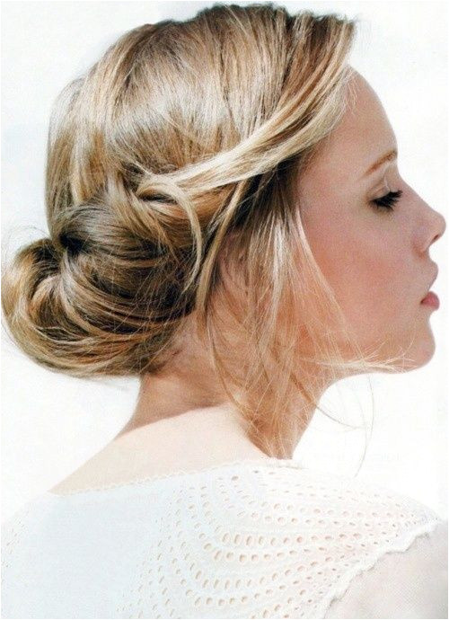An easy up do the loose & low bun