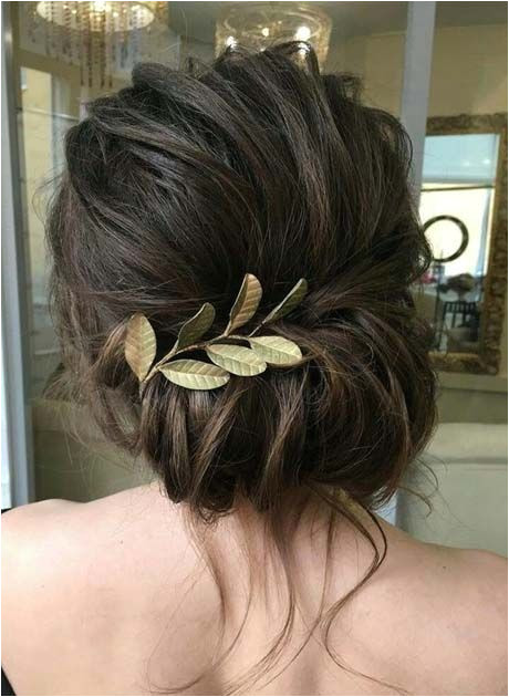 Formal Hairstyles Loose Bun Loose Curls Updo Wedding Hairstyle 2018 Hair Makeup