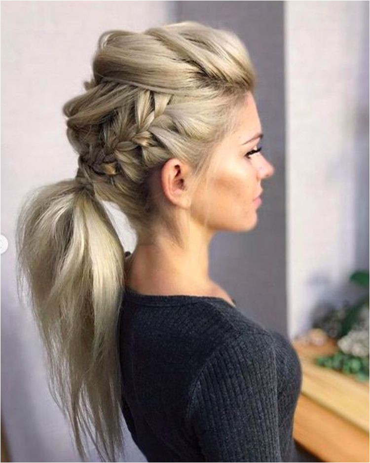 Adorable Ponytail Hairstyles Classic Ponytail For Long Hair Dutch Braids To A High Pony