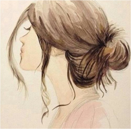 Gallery For Girl Tumblr Hair Drawing