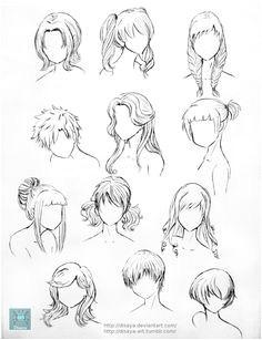 Hairstyles girl female How to Draw Manga Anime More