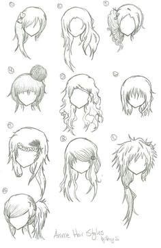 More manga anime hair part 2