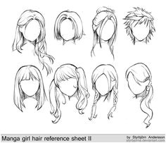 awesome Girl Anime Hairstyles Hair Styles Drawing Anime Hair Drawing Girl Hair Drawing