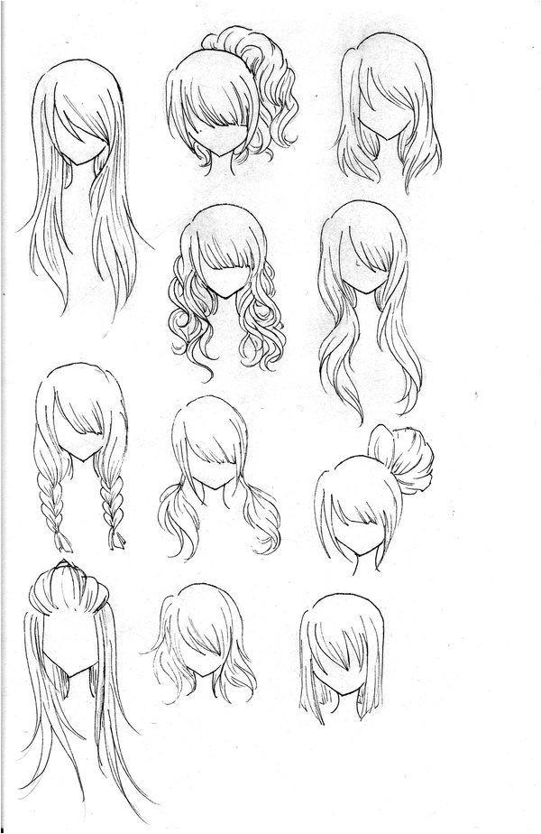 Girl Hairstyles Manga Draw Realistic Hair Drawing Ideas