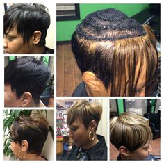 Short Crop Sew Ins no glue used in