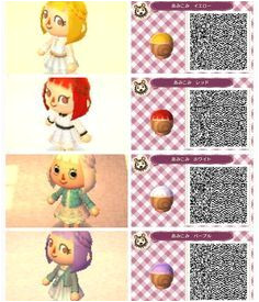 animal crossing new leaf hair qr codes Google Search Videospiele Animal Crossing Frisuren