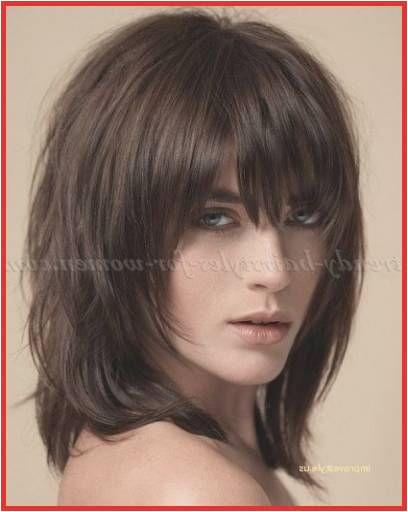 Hair Cuts Dark Brown Enormous Medium Hairstyle Bangs Shoulder Length Hairstyles with