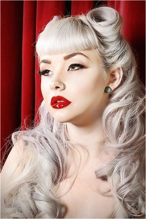 perfect bangs Classic Look with Pin up Hairstyles for Long Hair