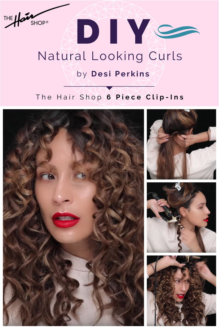 Beauty Sensation Desi Perkins shows us how to natural looking curls Watch her video