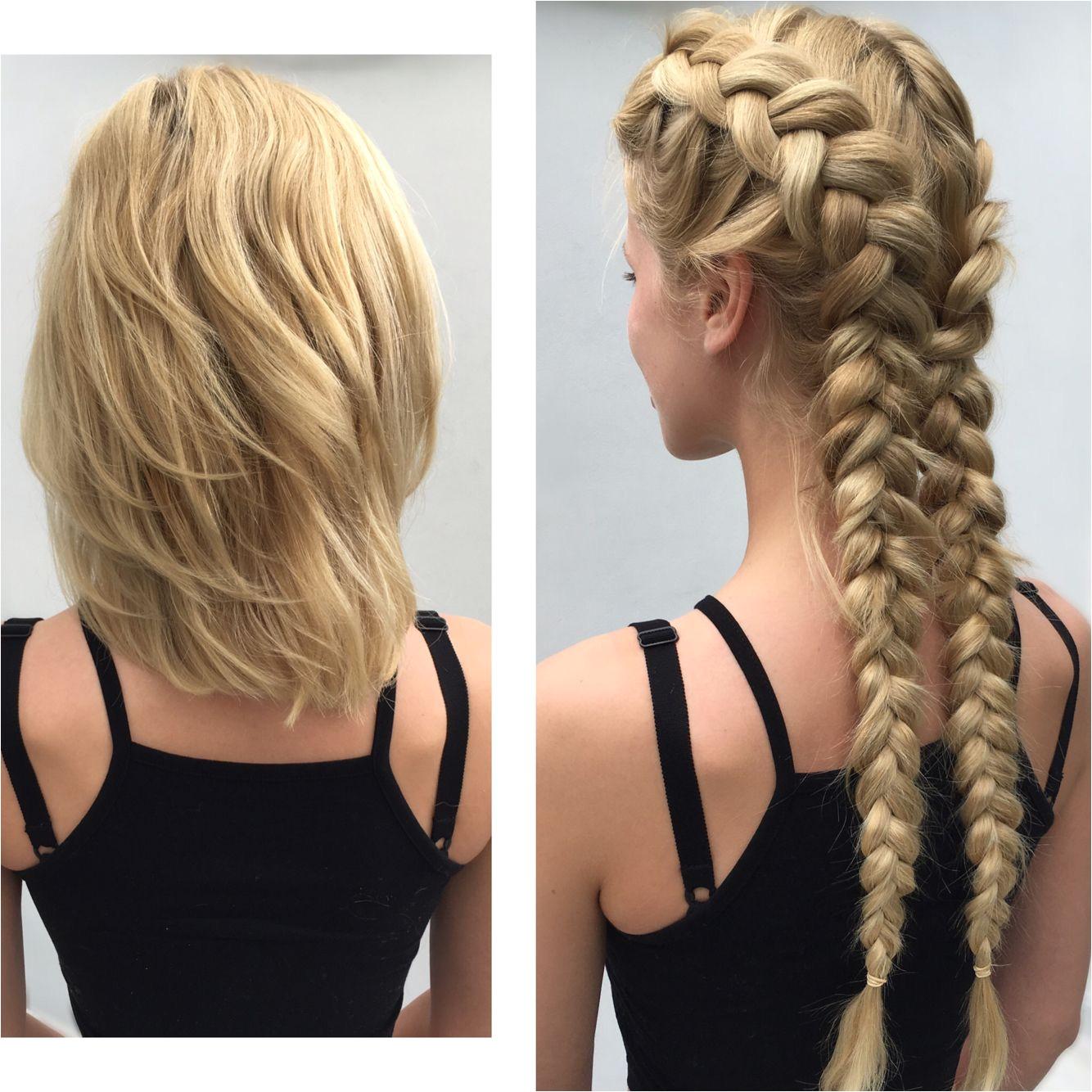Boxer braids clip in braids hair extensions by tatiana Karelina