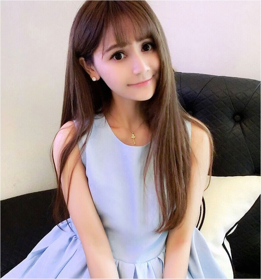 Cute Korean Straight Hairstyles For Girls