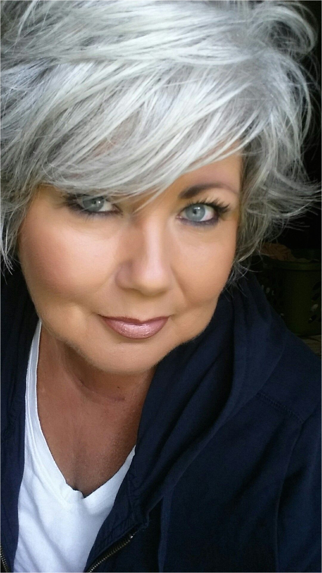 """I really struggled at first with the whole """"going grey"""" but I m glad I did"""
