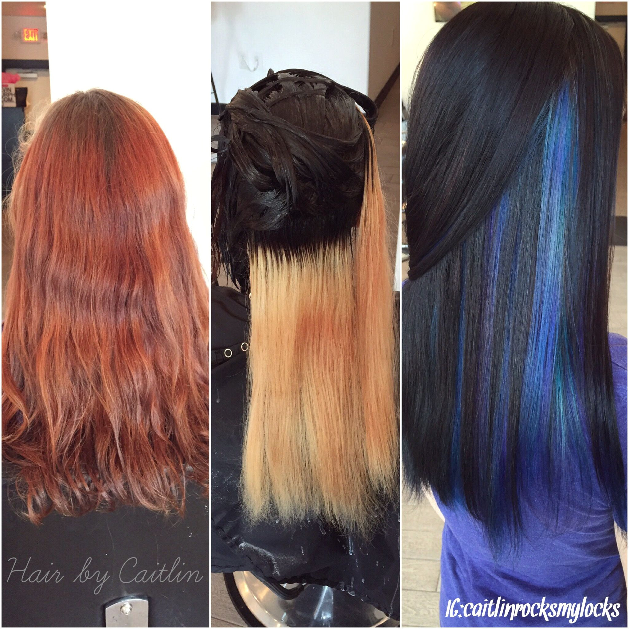 Start to 1st process to finish Purple and blue hair Peacock hair Galaxy hair Jewel tone hair Colorful hair Dark hair with colors Blue hair
