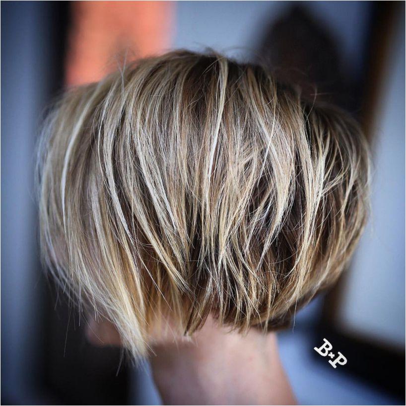 Razored Bronde Bob For Fine Hair Nape Undercut Hairstyles With Undercut Short Choppy Hairstyles