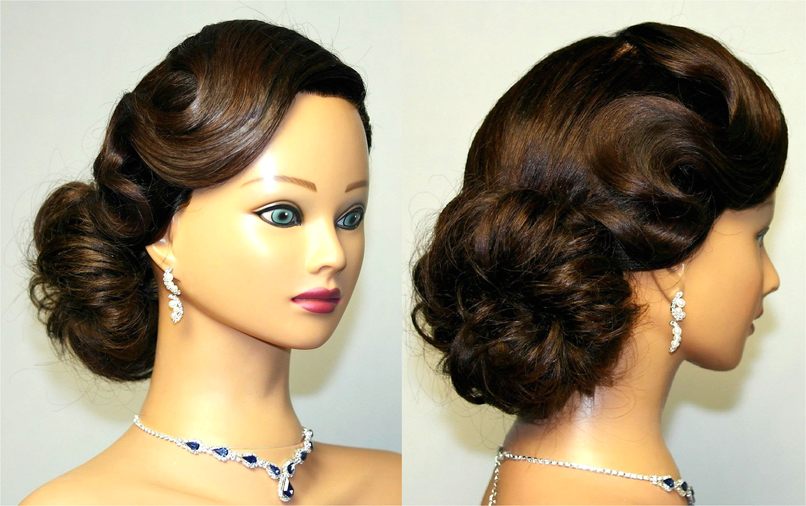 Wedding Hairstyle 2018 Updo for Medium Length Hair