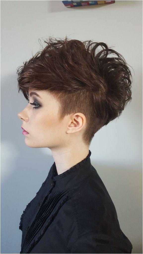 Haircuts Vancouver Woman S Short Hair Undercut with Volume by Sheena Batenchuk