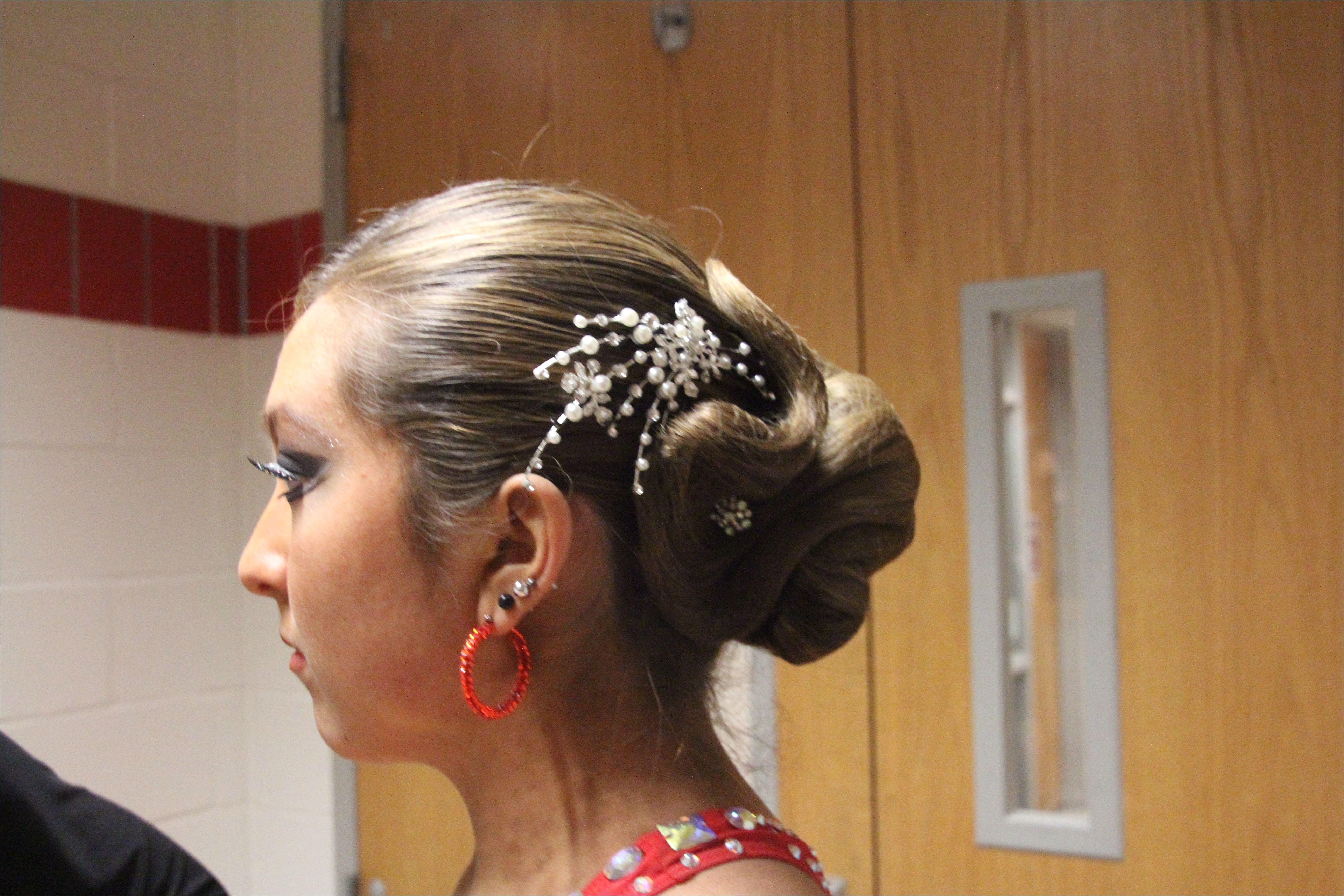 Ballroom updo by Guillermo s Hair Studio Vernon CT