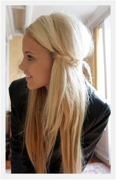 blonde blonde hair Side Braids Side Plait Long Hairstyles Straight Hairstyles For Long