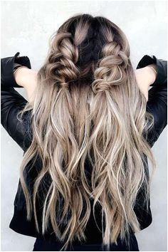 hair and care 2019 Pigtail Braids Twin Braids Ashy Blonde Blonde Waves